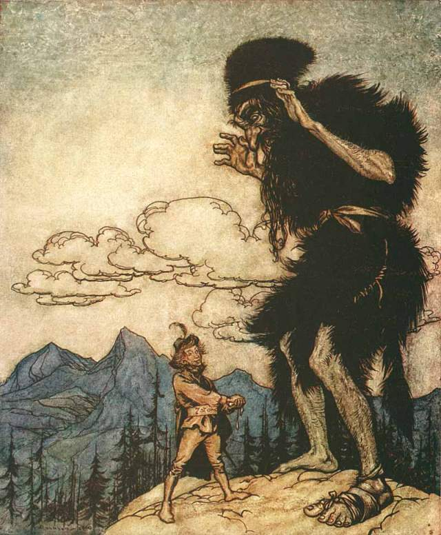 Giant: illustration by Arthur Rackham